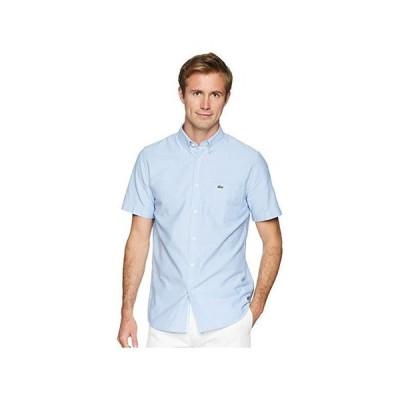 ラコステ Short Sleeve Oxford Button Down Collar Regular メンズ シャツ トップス Hemisphere Blue
