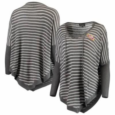 Gameday Couture ゲームデイ コーチャー スポーツ用品  LSU Tigers Womens Charcoal Crossroads Striped Poncho