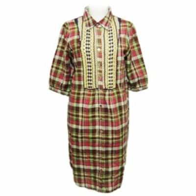 spirit du jour Country check dress スピリット デ ジュール カントリー鍵編みワンピース (シャツ) 066056【中古】