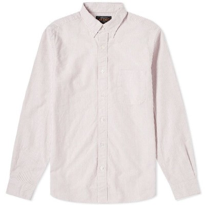 ビームス プラス Beams Plus メンズ シャツ トップス Button Down Candy Stripe Shirt Wine