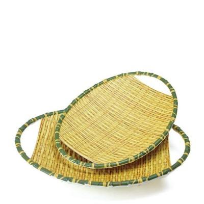 竹風メラミンプレート 小判ザル 小(91-303S)キッチン、台所用品