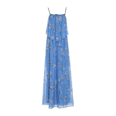 ディアナ ガッレージ DIANA GALLESI ロングワンピース&ドレス アジュールブルー 46 コットン 100% ロングワンピース&ドレス