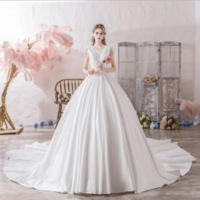 ウエディングドレス 結婚式 披露宴 プリンセス ブライズメイド ブライダル 花嫁 ロング ドレス エレガント 安い 可愛い