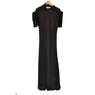 未使用 TOGA Georgette satin ドレス ワンピース 36 ブラック トーガ