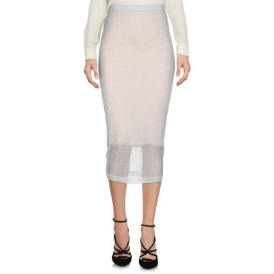 オージュールルジュール AU JOUR LE JOUR 7分丈スカート ライトグレー 40 キュプラ 65% / ポリエステル 35% 7分丈スカート