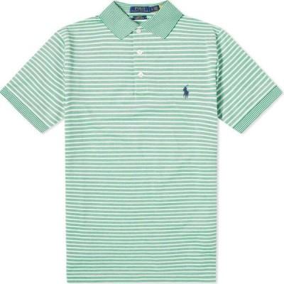 ラルフ ローレン Polo Ralph Lauren メンズ ポロシャツ トップス striped polo Golf Green/White