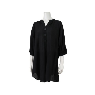 (PISANO/ピサーノ)シアークレープ・ボリューム袖プルオーバー/レディース ブラック