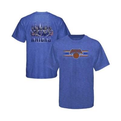 バスケットボール NBA メジャー USA 全米 アメリカ 海外セレクトブランド Levelwear New York Knicks ユース City Back Tシャツ - Royal ブルー-