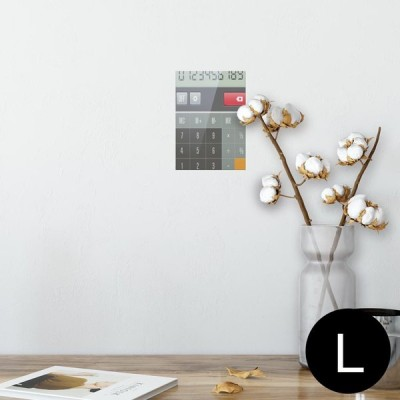ポスター ウォールステッカー シール式 89×127mm L版 写真 壁 インテリア おしゃれ wall sticker poster 数字 シンプル 003494