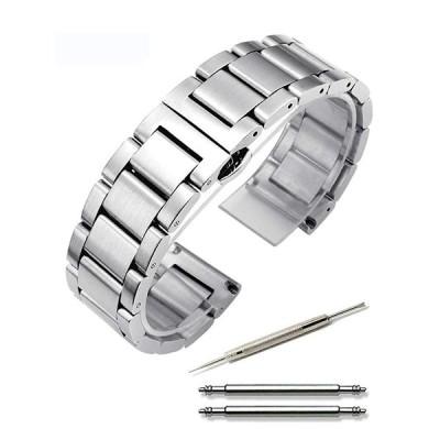 腕時計 ステンレス ベルト 時計 つや消し ワンプッシュ式 ブレスレット 観音開き 18mm 20mm 22mm 24mm (交換説明書 交換工具 バネ棒付)