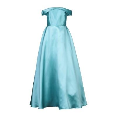 モニークルイリエ MONIQUE LHUILLIER ロングワンピース&ドレス スカイブルー 14 ポリエステル 100% ロングワンピース&ドレス