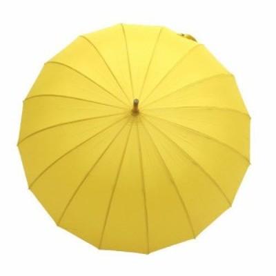 和傘 16個骨 ポンジージャンプ傘 直径94cmのワイドサイズ からし(黄色)x1本/法人配送のみ/個人宅配送不可