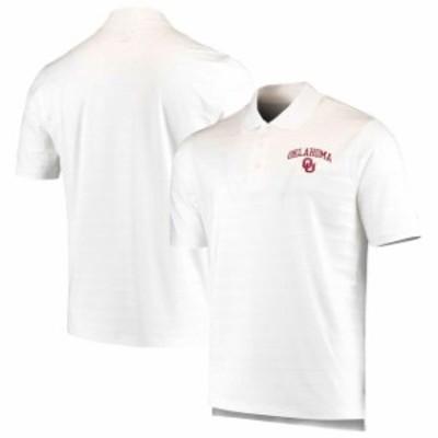 Champion チャンピオン スポーツ用品  Champion Oklahoma Sooners White Textured Solid Polo
