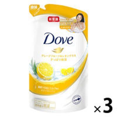 ユニリーバダヴ(Dove) ボディウォッシュ(ボディソープ) グレープフルーツ&レモングラス 詰め替え 360g 3個