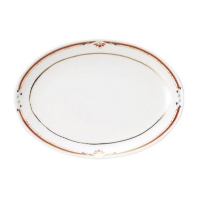 ニューボン紅華妃 9吋プラター 中華食器 プラター 楕円皿 20cm〜30cm 業務用 日本製 磁器 約23.8cm