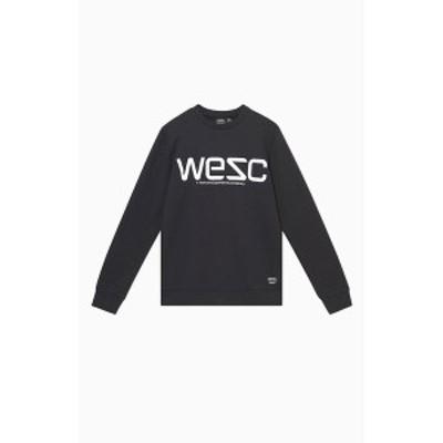 ウィーエスシー メンズ パーカー・スウェットシャツ アウター Men's Miles Reflective Sweatshirt Black