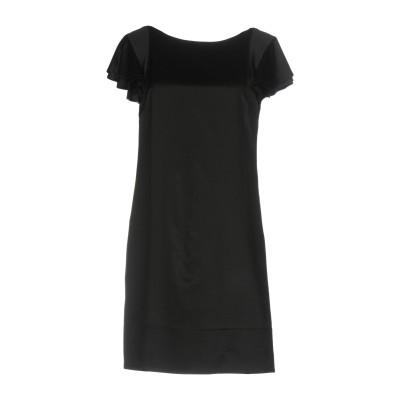 デレク ラム DEREK LAM ミニワンピース&ドレス ブラック 44 ウール 36% / シルク 32% / レーヨン 32% ミニワンピース&
