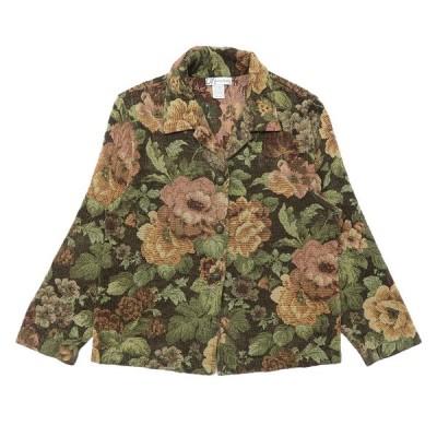 デザインジャケット 総柄 花柄 マルチカラー サイズ表記:M