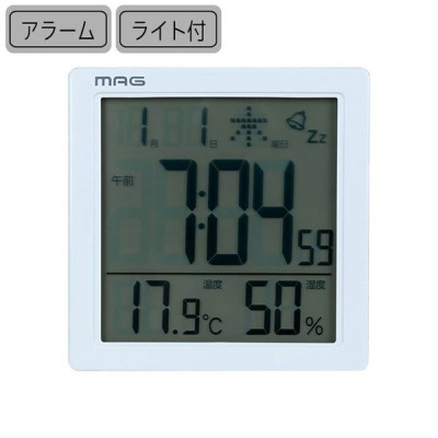 目覚まし時計 デジタル 置時計 温度計 湿度計 タッチセンサークロック カッシーニ T-726 ノア おしゃれ 多機能 時計 置き時計 雑貨 アラー