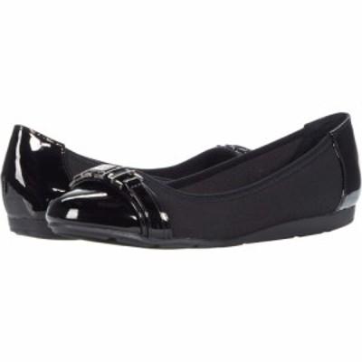 アン クライン Anne Klein レディース スリッポン・フラット シューズ・靴 Azul Black