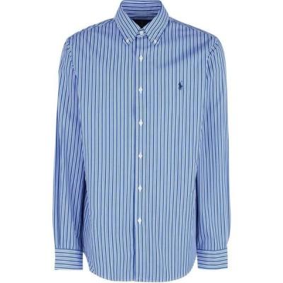 ラルフ ローレン POLO RALPH LAUREN メンズ シャツ トップス Botton Down Slim Fit Long Sleeve Stertch Poplin Shirt Striped Shirt Blue