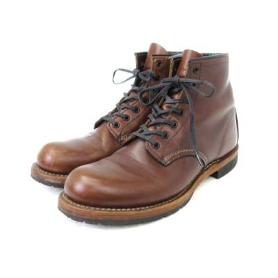 【中古】レッドウィング REDWING BECKMAN ベックマン ブーツ 9016 シガー フェザーストーン 茶 ブラウン 25 靴 ■SM メンズ 【ベクトル 古着】