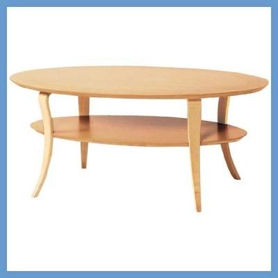 『一般A』ウッドオーバルテーブル(収納台付き)/ナチュラル