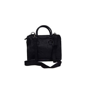 ZINT Men's Genuine Leather Briefcase Laptop Bag/Messenger Bag/Portfolio Bag (Black)【並行輸入品】