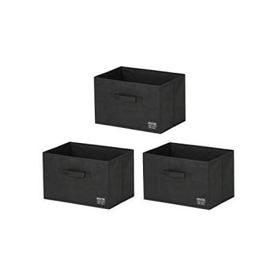 武田コーポレーション 収納・カラーボックス引き出し・折りたたみ ブラック 38×26×24? デザインストレージBOX 3P K0-24BK