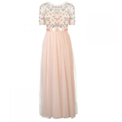 フロックアンドフリル Frock and Frill レディース ワンピース ワンピース・ドレス Frock Embellished Dress Morganite blush
