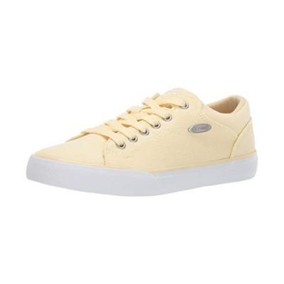 Lugz Women's Regent Lo Linen Sneaker Yellow/White 6.5 M US【並行輸入品】