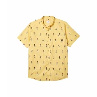 リップカール シャツ トップス メンズ Vacation Short Sleeve Shirt Yellow