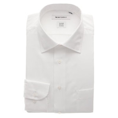 【3BLOCK SHIRT】ワイドカラードレスシャツ 織柄 〔EC・FIT〕