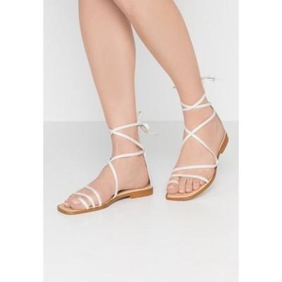オフィス サンダル レディース シューズ SEAWEED - T-bar sandals - white