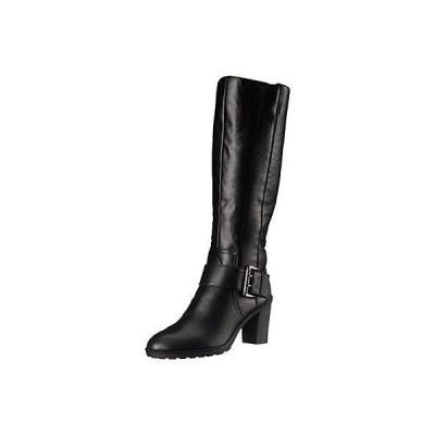 ライフストライド ブーツ 靴 LifeStride 9754 レディース Sasha ブラック ライディング ブーツ シューズ 6.5 Wide (C,D,W) BHFO