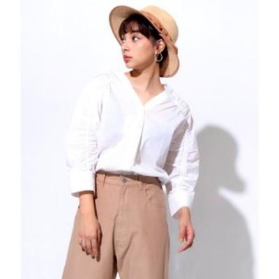 アナップ(ANAP)/シャーリングスリーブシャツ