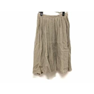 グーコミューン GOUT COMMUN スカート サイズ36 S レディース 美品 グレーベージュ【中古】