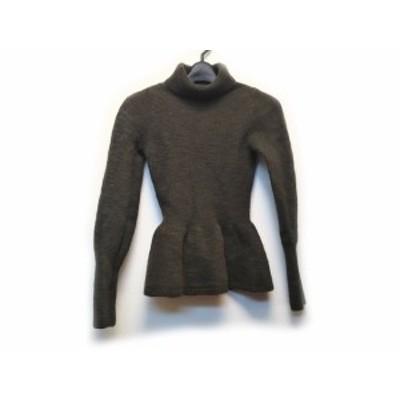 エリン ELIN 長袖セーター サイズ00 XS レディース - カーキ タートルネック【中古】20200602