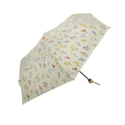 TIMELESS COMFORT / PU Botanical Pattern Mini ボタニカルパターン ミニ 晴雨兼用折りたたみ傘 遮光 WOMEN ファッション雑貨 > 折りたたみ傘