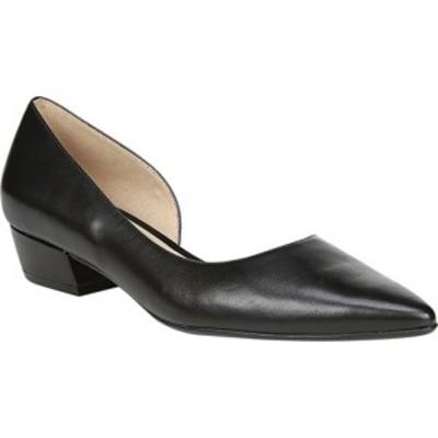 ナチュライザー レディース スニーカー シューズ Belina D'Orsay Flat Black Leather
