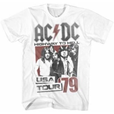 ファッション トップス AC/DC-Hell Tour 79-3X White T-shirt