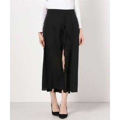 スカート WEGO/スリットリボンロングスカート