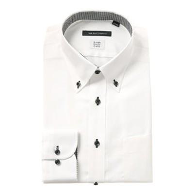 【COOL MAX】ボタンダウンカラードレスシャツ 織柄 〔EC・BASIC〕