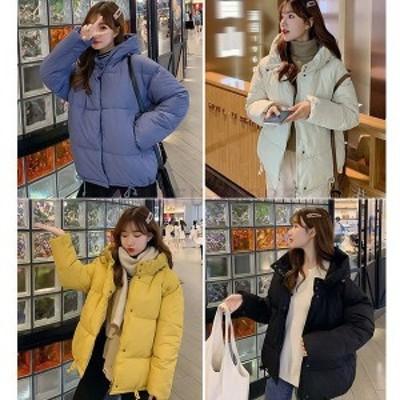 中綿ダウンコートレディース40代ショート軽い2020秋冬アウター中綿コート中綿ジャケットダウン風コートフード付き厚手暖かい大きいサイズ