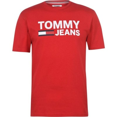 トミー ジーンズ Tommy Jeans メンズ Tシャツ トップス Tee Racing Red