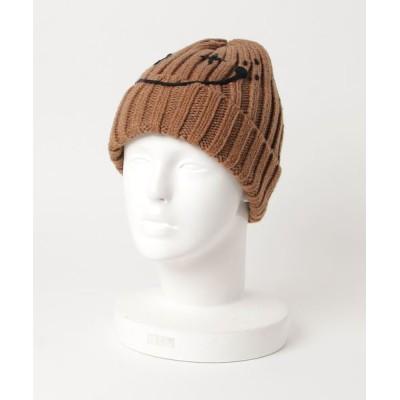 帽子 キャップ フェイス刺繍MIXワッチ