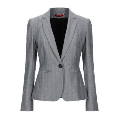 MAX & CO. テーラードジャケット ブラック 46 ポリエステル 64% / レーヨン 32% / ポリウレタン 4% テーラードジャケット