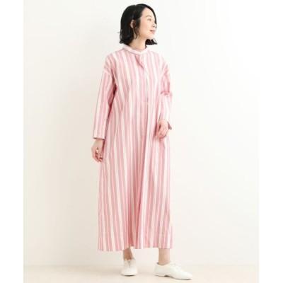 NIMES/ニーム pink et rayure ワンピース ピンク フリー