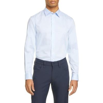 アルマーニ EMPORIO ARMANI メンズ シャツ トップス Slim Fit Stretch Button-Up Shirt Light Blue