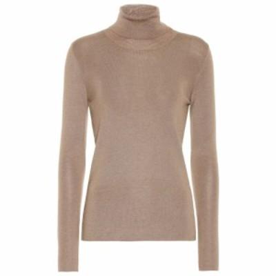 プラダ Prada レディース ニット・セーター トップス Cashmere and silk turtleneck sweater Cammello